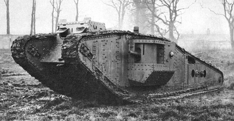 All nationalities World War 1 tanks and combat vehicles