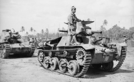 Various WW2 tanks and combat vehicles