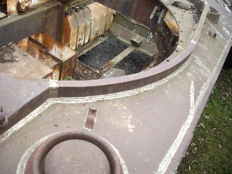 M4A2 Fisher turret splash guard