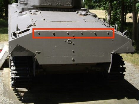 M4A2 Fisher rear hull plate
