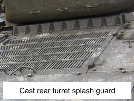 M4A2 Fisher rear turret splash guard