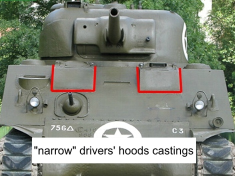 Narrow hood construction
