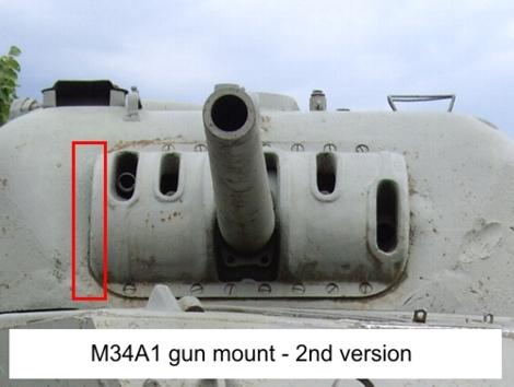 M34A1 gun mount